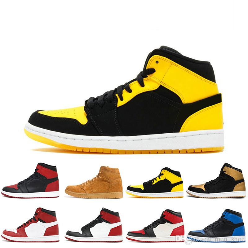 5a925d07055a64 Compre 1s OG 1 Top 3 Zapatos De Baloncesto Para Hombre Homage To Home  Banned Bred Toe Chicago Royal Blue Shattered Backboard Shadow UNC Melo  Hombres ...