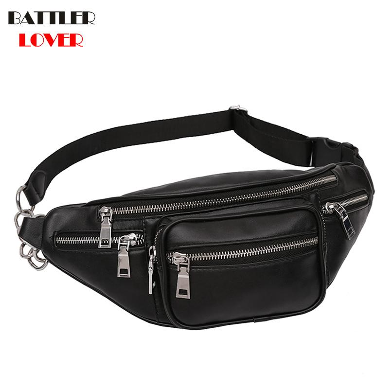 Womens Crossbody Bags for Women Leather Military Shoulder Chest Bag Large Capacity Ladies Mujer Handbag Zipper Fanny Waist Pack