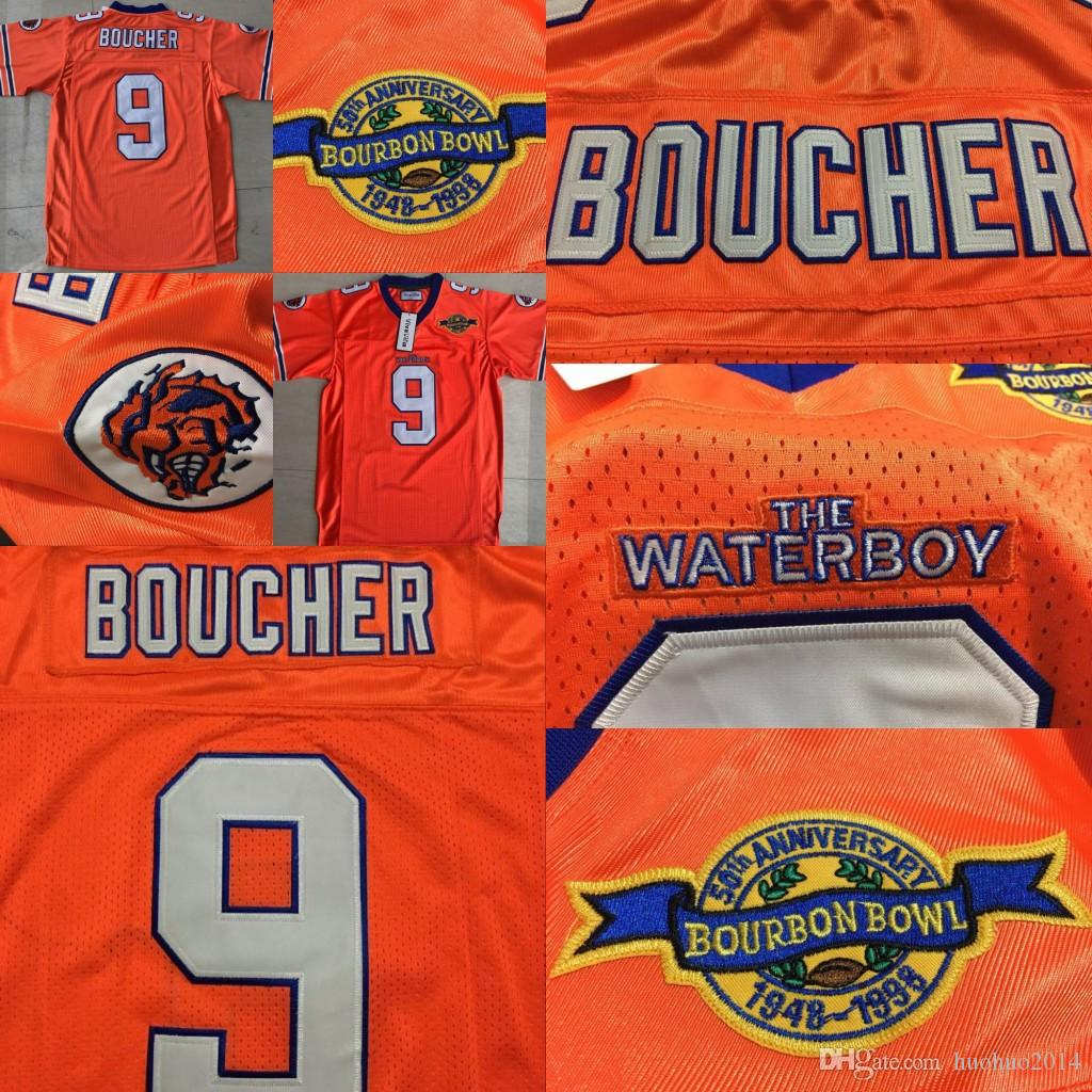 9 Bobby Boucher The Waterboy Football Jersey Adam Sandler Men  9 Bobby  Boucher Orange All Stitched Movie Jersey UK 2019 From Huohuo2014 0f18113e3e94