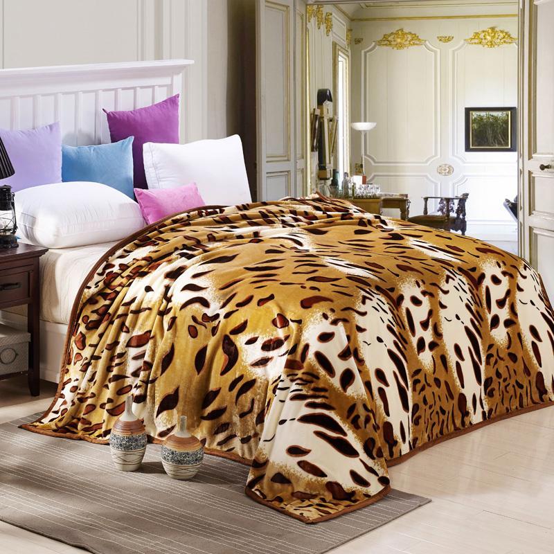 Sonno Coperta Leopard Divano Letto Aereo Viaggio Plaid Lenzuola  Lenzuolo Copriletto Biancheria Da Letto Matrimoniale Completa Matrimoniale King  Size