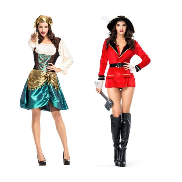 Halloween Pirate Costume Adult Women Red Sexy Matador Pirate Captain Cosplay  Costume With Hat High Quality Cosplay For Women Pirate Halloween Costumes  Plus ... 57f730ac5