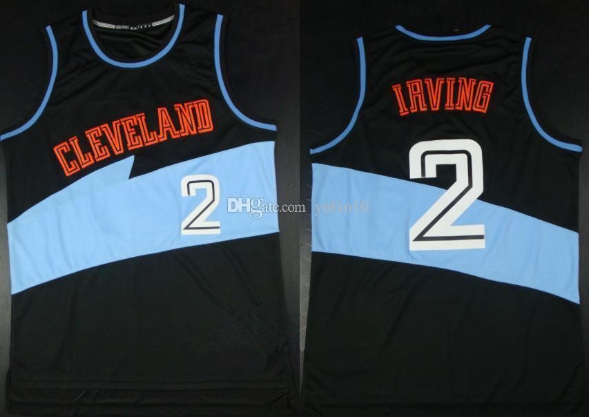a1379b82 ... best price 2 kyrie irving cleveland black retro classic basketball  jersey mens embroidery stitched custom any