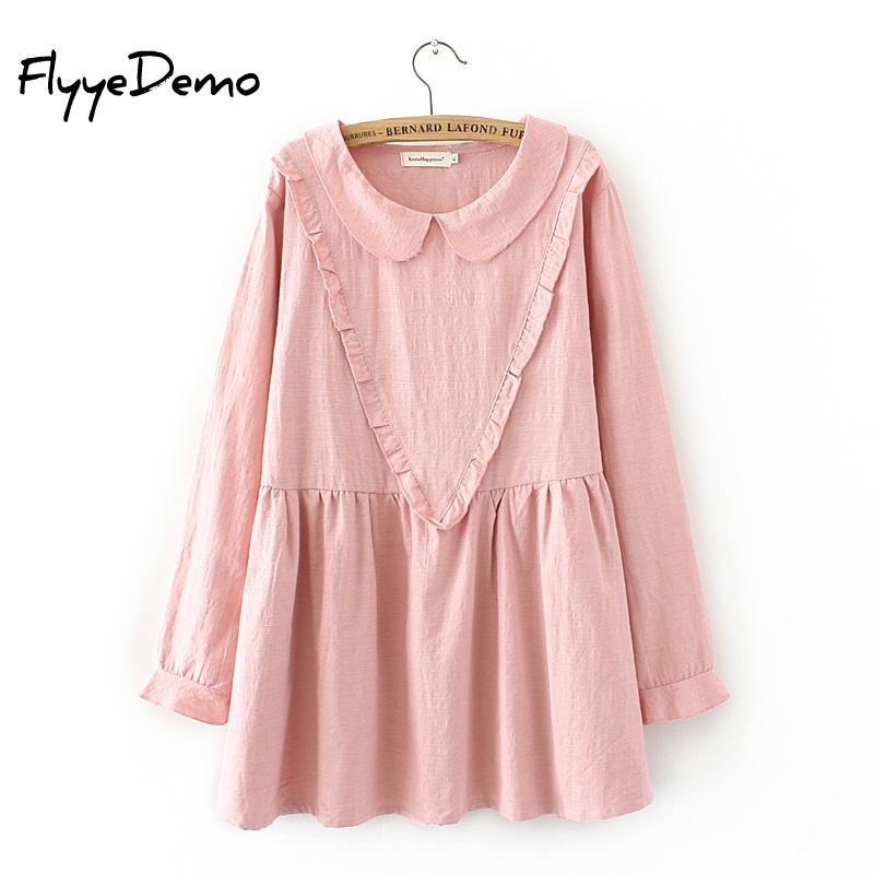 90274870338dc2 2019 Women Sweet V Style Ruffled 2018 Women Shirts Pleated Butterfly Long  Sleeve Peter Pan Collar Blouse Vintage Tops Female Blusas From Vanilla15,  ...