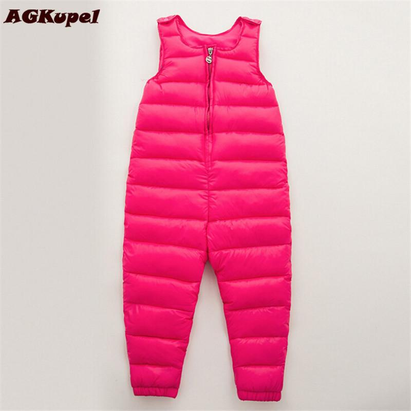AGKupel 2017 Baby Thick Warm Pant Bebe Clothes Winter Children Clothing Kids Duck Down Baby Trousers Overalls Baby Toddler Pants