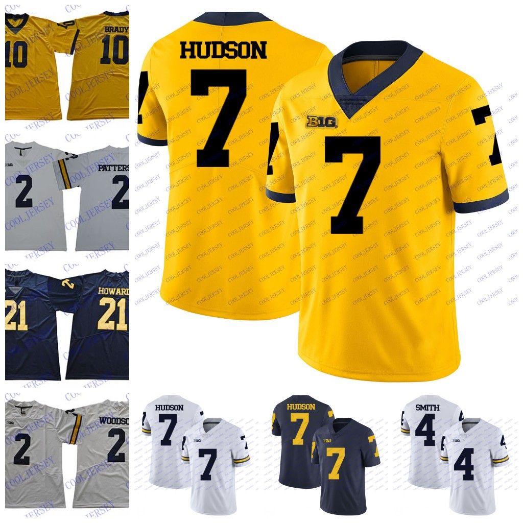cc48f8c1beb 2019 Custom NCAA Michigan Wolverines College Football Any Name Number 7  Tarik Black 17 Tyrone Wheatley 32 Ty Isaac 44 Deron Irving Bey Jerseys From  ...
