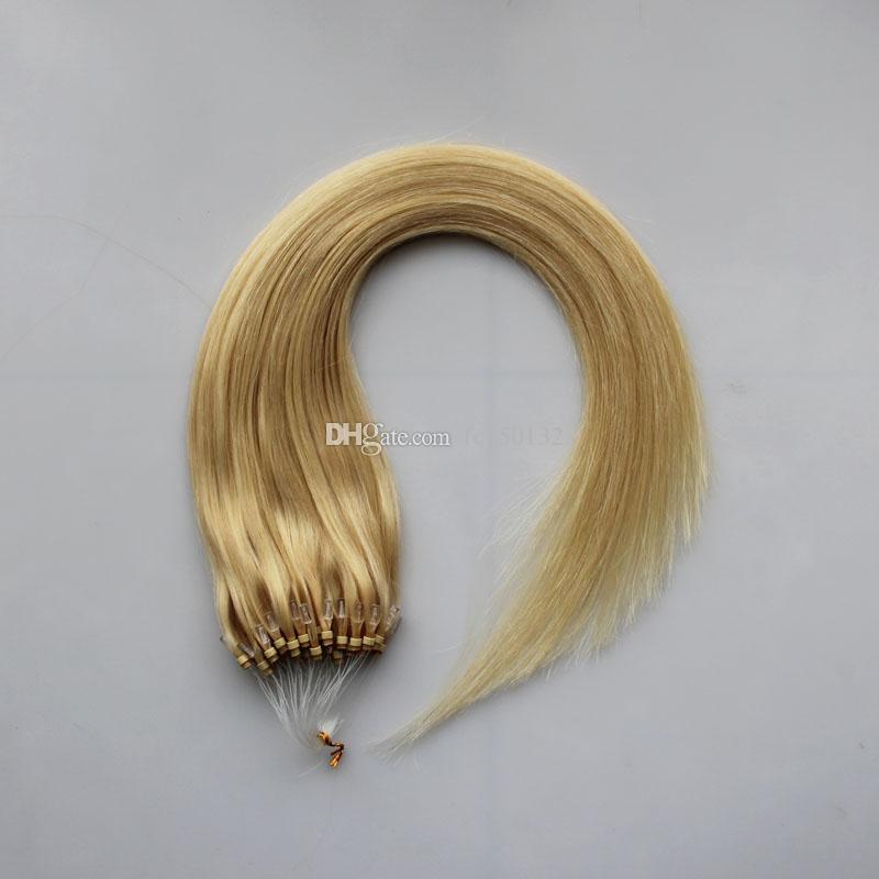 Микро петля для наращивания волос Remy человеческих волос шелковистая прямая 100 г микро петля для наращивания человеческих волос капсула кератиновая бусина