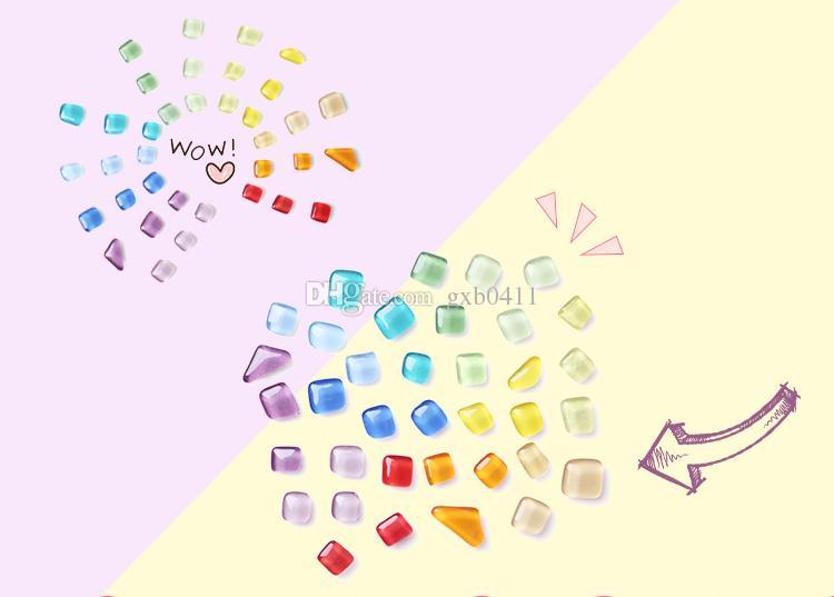 Imán de vidrio irregular Super fuerte Imán de neodimio Imanes para refrigerador Decoración del hogar oficina mensaje foto pizarra Imán poste