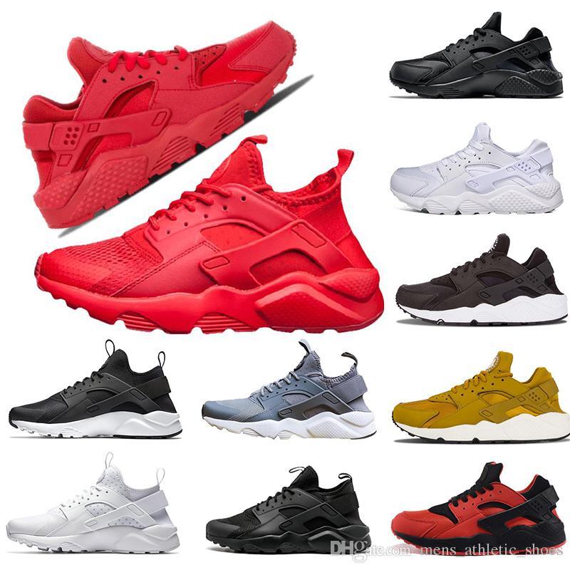 a69ed28f5d6c 2019 Race Runners Air Huarache Women Designer Sneakers 4.0 All Red 1.0  Huarache Running Shoes Mens Trainers Men Designer Shoes Speed Trainers From  ...