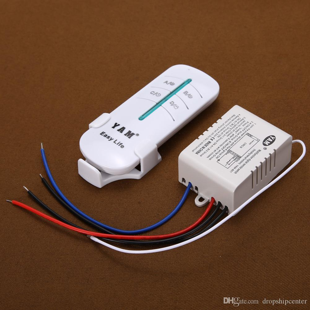 Wireless Remote Control Switch 1way On Off 220v Digital Distance How To Wire A Light Plug Outlet Receiver Transmitter For Led Lamp Online With 343 Piece