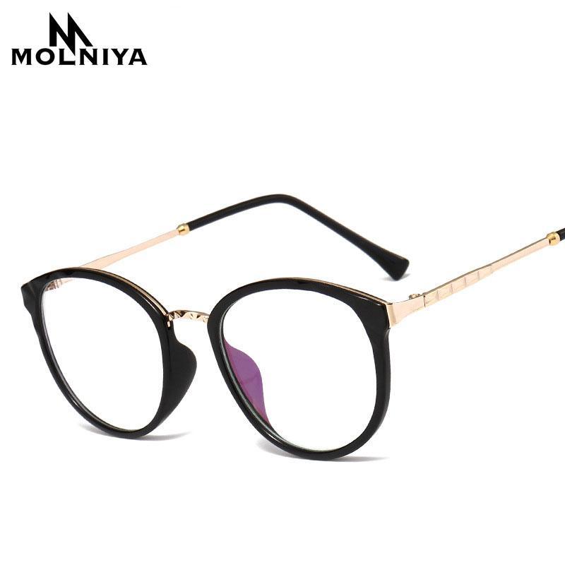 b71b9885e5a 2018 Alloy Frame Glasses Frame Fashion Lenses Women Lasses Spectacle ...