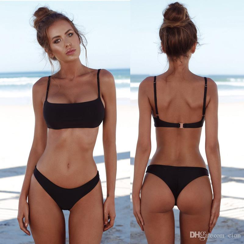 Sexy Set 4 Color De Nuevo Brasileño Baño Push Unpadded Mujeres 2018 Trajes Vintage Traje Up Bikini Nwv8Onm0