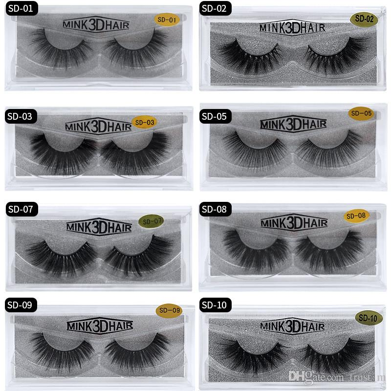20style 3d Mink Hair Fake Eyelash 100% Thick real mink HAIR false eyelashes natural Extension fake Eyelashes DHL free shipping