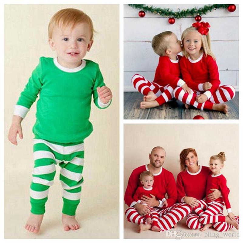5785251c1 Ins Xmas Family Matching Outfits Baby Adult Pajamas Patchwork Shirt ...