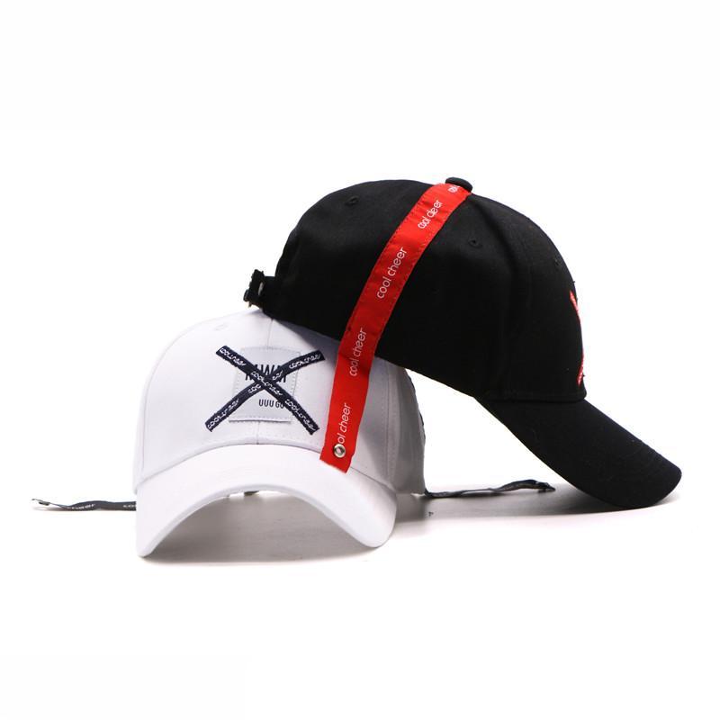 5b85fddb484 LDSLYJR 2018 Cotton X Letter Print Baseball Cap Adjustable Snapback ...