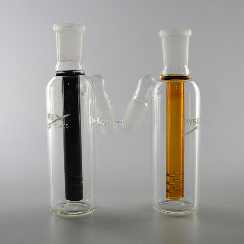 PYREX Perc Glass Ashcatcher for Glass Water Pipe Bongs Oil Rigs 14.4mm 18.8mm Joint Black Amber Ash Catcher in Good Quality