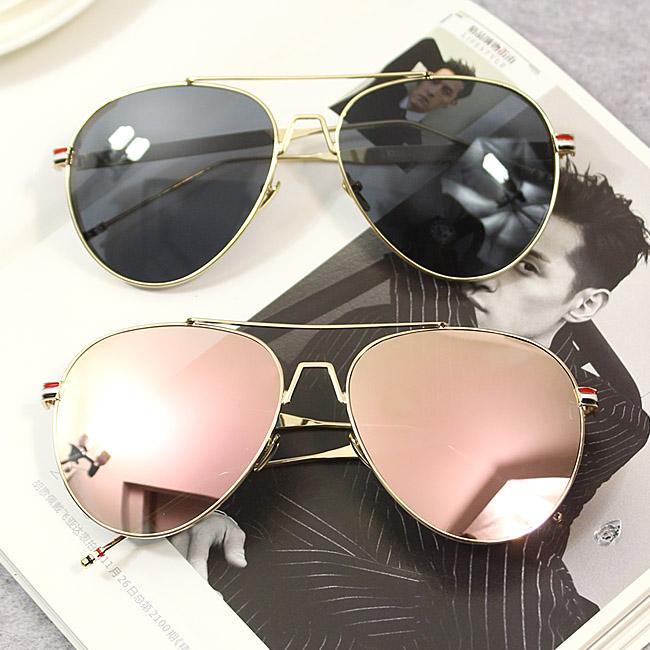 Compre Verão Novas Modas, Óculos De Sol, Aviadores, Óculos De Sol, Armações  De Metal, Espelhos Brilhantes, Óculos De Sol Escuros, Senhoras E Senhores. d68ab61ef5
