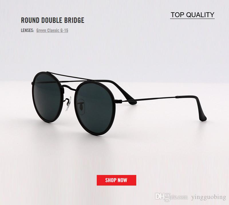514d85cde80 New Top Luxury Women Sunglasses Fashion Designer Ladies Vintage Retro Brand  Designer Female Sport Sun Glasses ROUND DOUBLE BRIDGE 3647 Gafas Police ...