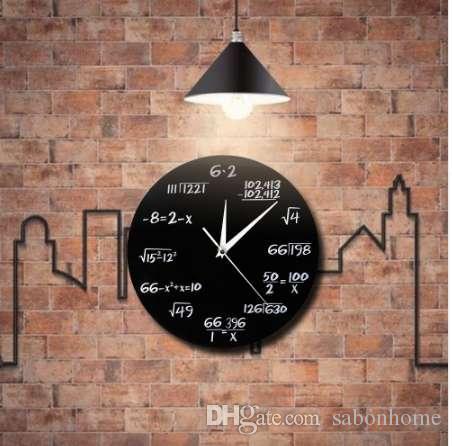 d9852502f38f Compre 1 Pieza Habitación Colgante 3D Reloj De Pared Moderno Quiz  Matemáticas 3D Relojes De Pared Relojes De Arte Saati Para Las Matemáticas  Decoración ...