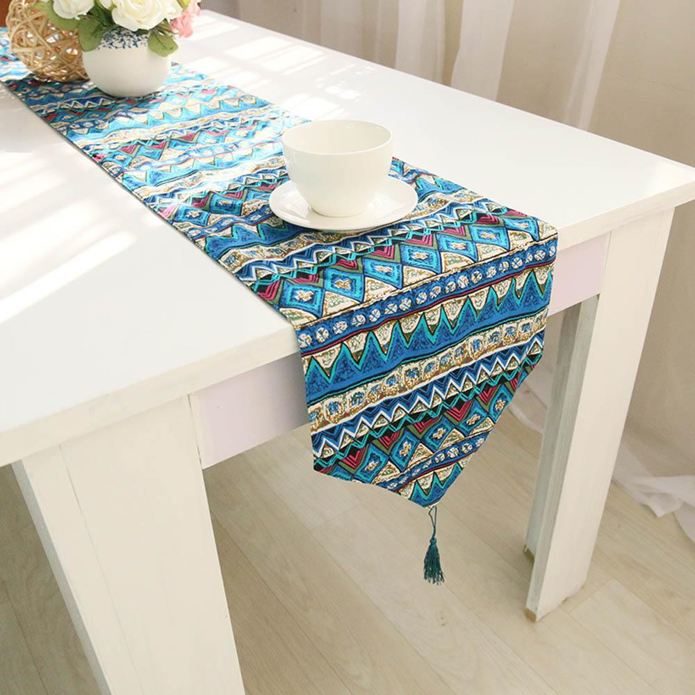 30*200cm Multi Size Red/Green/Blue Colorful Printed Linen Cotton ...