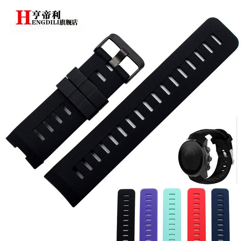 Smart Silicone Watch Strap for SUUNTO Spartan Watchbands Replacement rubber Wristband 24mm with stainless steel