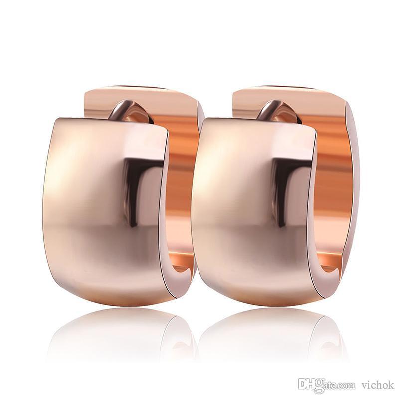 974f63f55d919 316L Stainless Steel Gold Plated Earrings Designer Earrings Fashion Hoop  Earrings For Women Mens Gift VICHOK