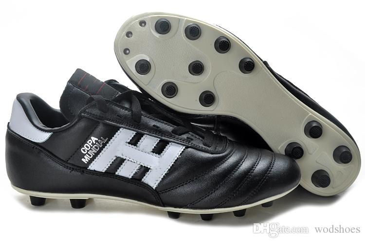 1dd1a590f 2019 Mens Copa Mundial Black White Made In Germany Leather FG Soccer Shoes  Discount Cleats 2015 World Cup Football Boots Botines Futbol 39 45 From  Wodshoes