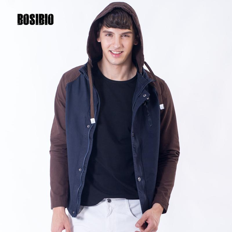 40ae445e4502d Mens Cotton Jackets Fashion Male Thin Slim Fits Coats 2017 Summer Autumn  Patchwork Casual Men s Hooded Coat High Quality J06 Slim Fit Coat Mens  Hooded Coat ...