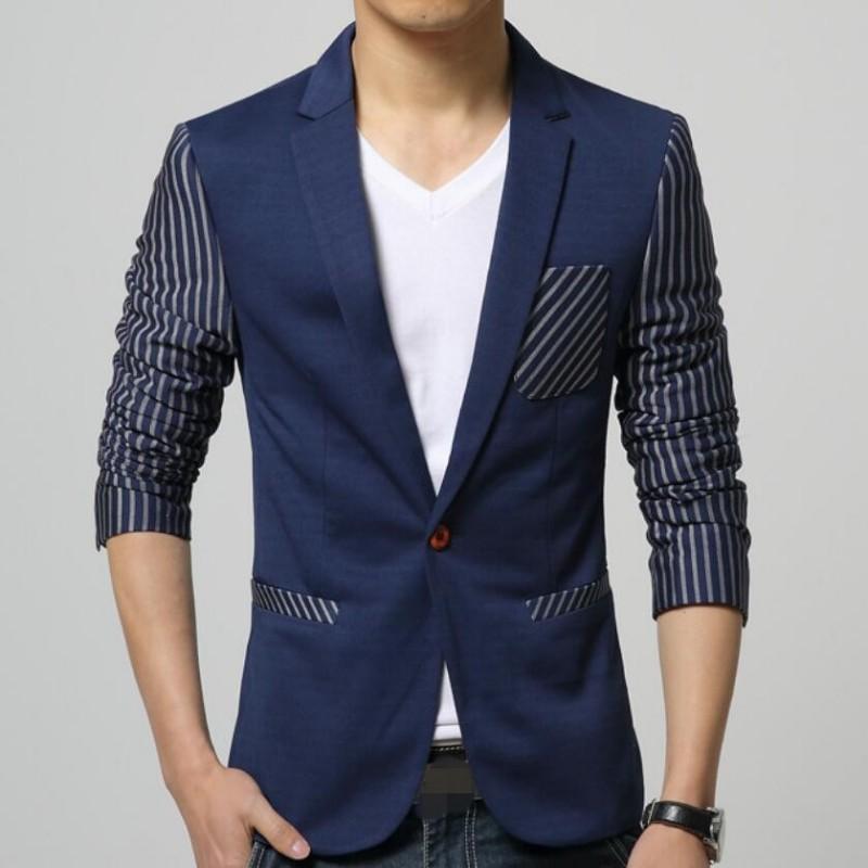 2019 New Spring Casual Blazers Men Fashion Slim Fit Jacket Coats