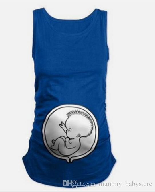 Büyük Yaz Orijinal Hamile Kadın Kolsuz tişört Hamile Tees Giyim Hemşirelik Üst Yelek Gebelik Uzun Tee Gömlek