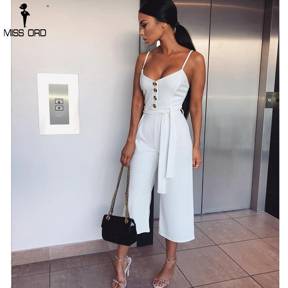 105d6400926 Missord 2018 Sexy Women V-Neck Off Shoulder Sleeveless Jumpsuit Lace ...