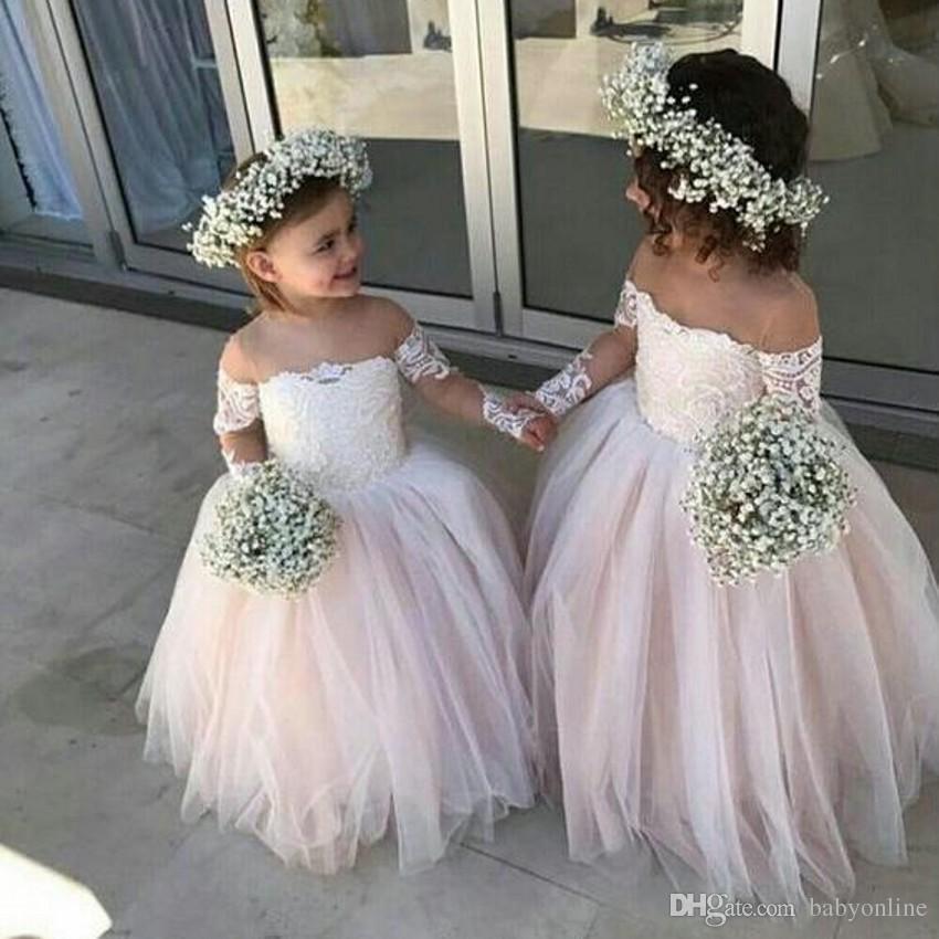 162d1be1c 2019 Lovely Kids Flower Girl Dresses For Country Garden Summer Boho ...