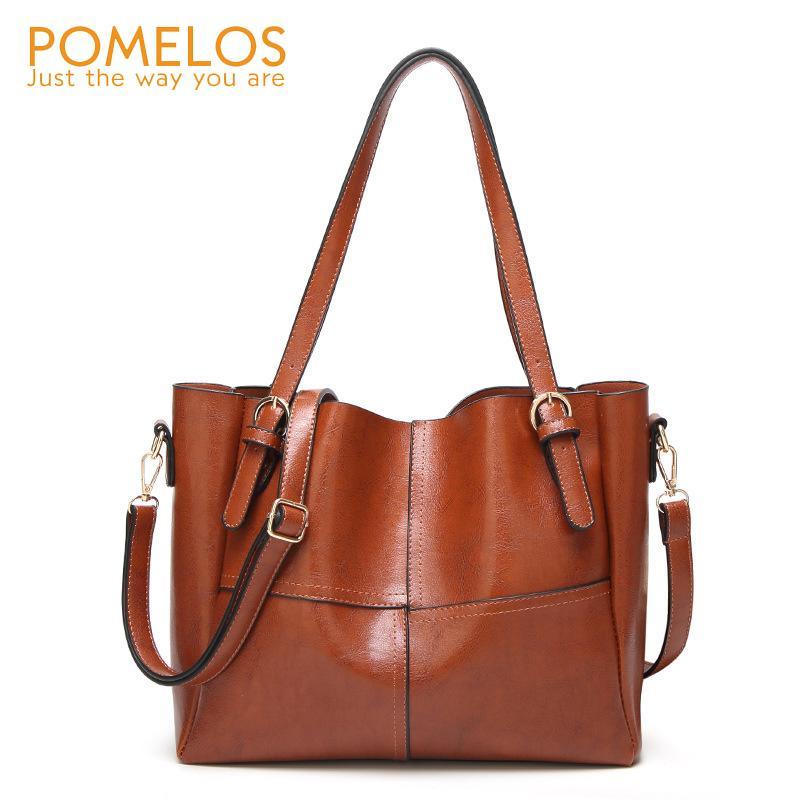 efcb8ece60 POMELOS Women Large Leather Shoulder Bag 2018 Fashion Luxury Handbags Women  Bags Designer Ladies Hand Bag Female Cross Body Bags Luxury Handbags  Handbags ...