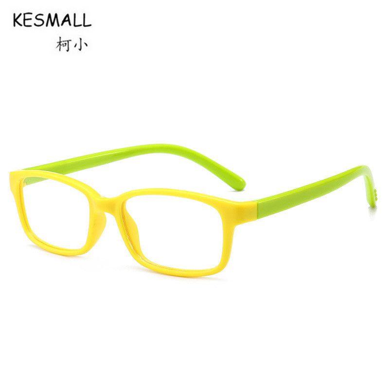 KESMALL Fashion Brand Kids Computer Glasses Frame Boys Girls Ultra ...