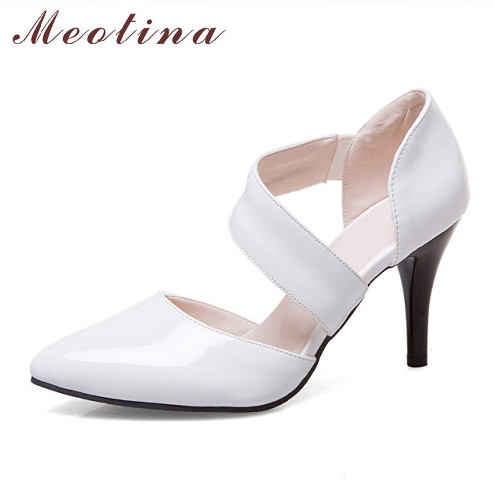 6d516c7aa665dc Acheter Femmes Chaussures Escarpins Talons Hauts Bout Pointu Mince Talons  Hauts Chaussures De Mariage De Parti Blanc Chaussures De Mariée Rouge  Grande ...
