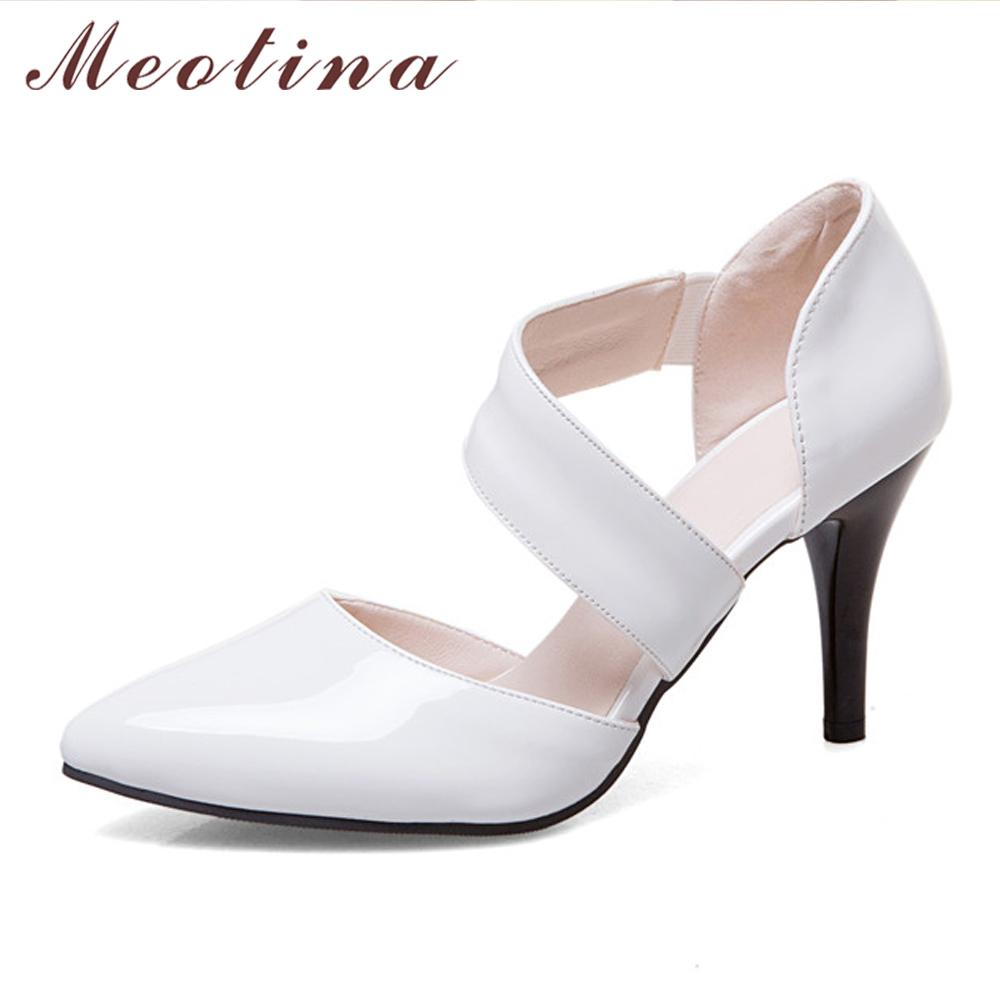Pumps Sexy Shoes 11 Red High Toe Party Wedding White Big Heels Women Size Thin Bridal 12 Pointed OPXiZuk