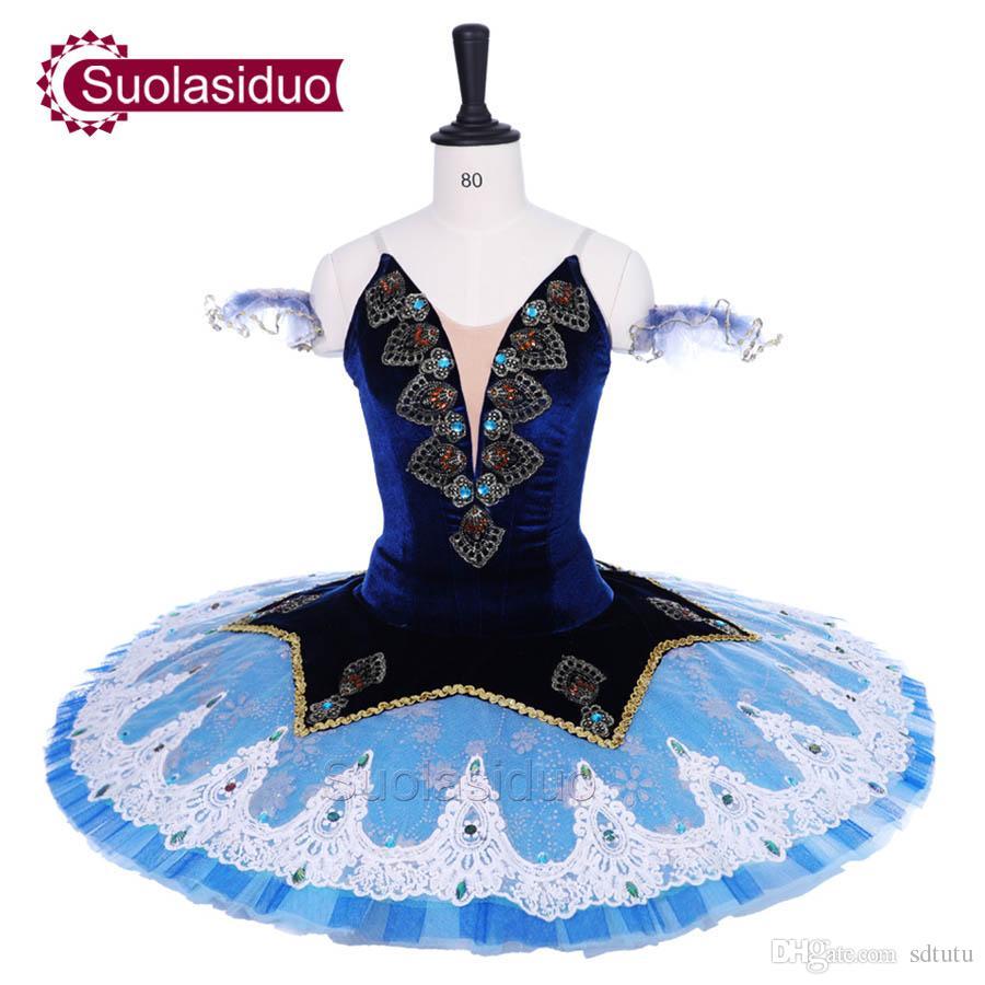 59cba6584feb7 2019 Adult Royal Blue Ballet Tutu The Nutcracker Performance Stage Wear  Women Light Blue Ballet Dance Competition Costumes Girls Ballet Skirt From  Sdtutu, ...