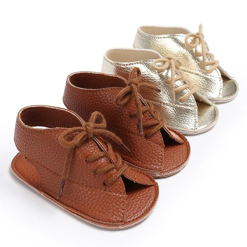 a10bec292a70 Infant Boys Sandal Summer Fashion Handsome Lace Up PU Leather Soft  Breathable Anti Slip Newborn Kids Baby Boys Sandal Kids Footware Sneakers  For Toddler ...