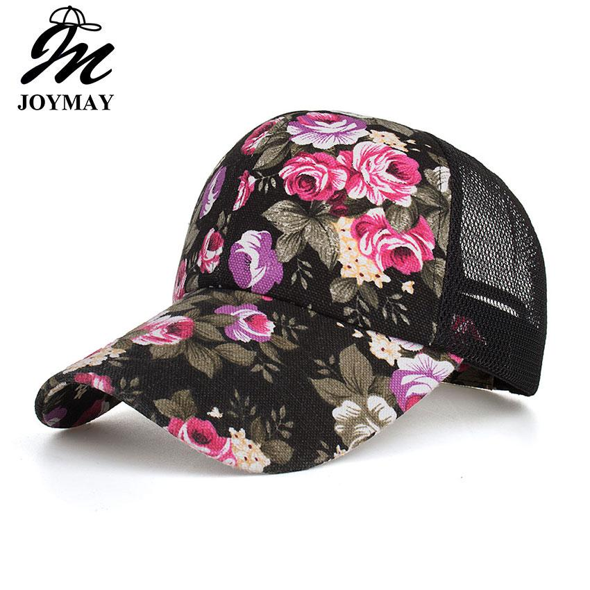 76571b75d4172 Joymay Women Summer Printed Mesh Caps Ladies Baseball Cap Fashion Sunshade  Sun Hat Wholesale B544 Cheap Snapback Hats Hats Online From Kaylacxn