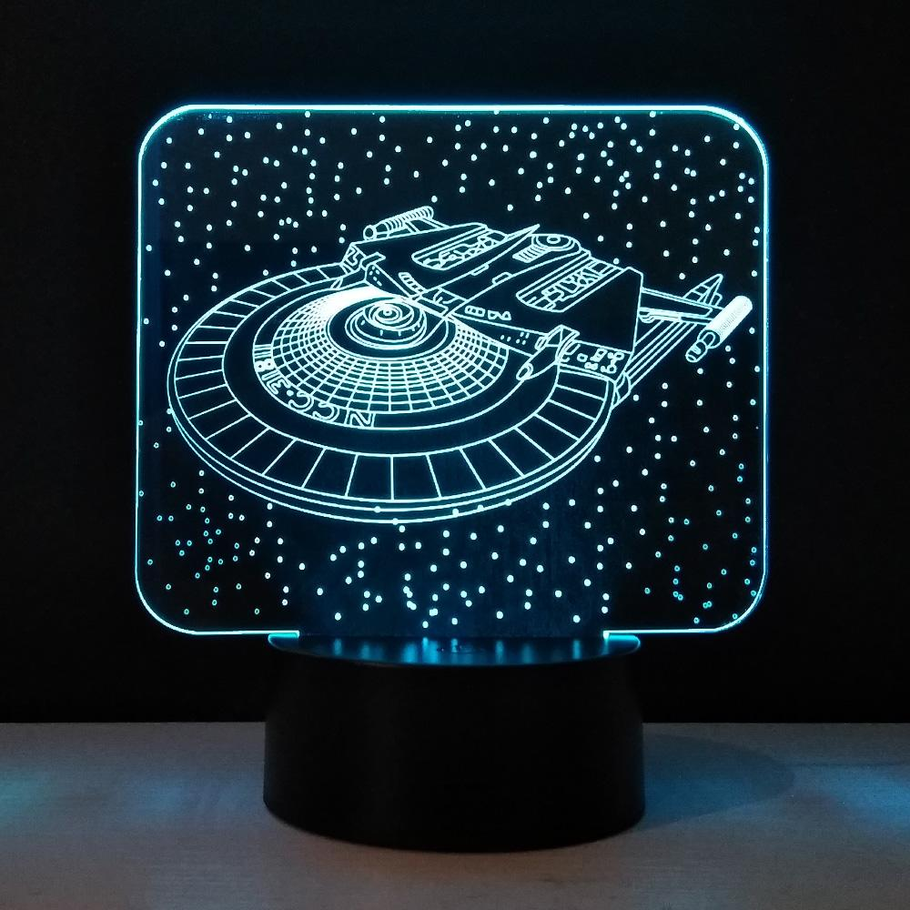 2019 Star Trek Kids Night Light 3d Lampara Usb Flexible Led Lamp