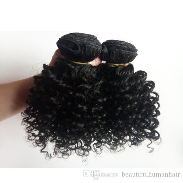 9A Mink Malaysian Brazilian virgin human Hair weft 8-12inch Kinky curly Factory wholesale European Indian remy hair extensions can be dyed