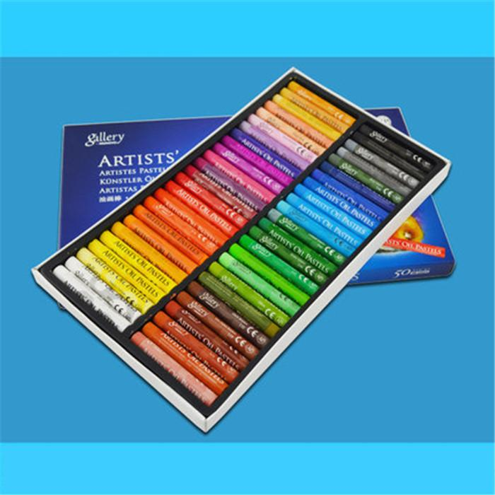 Finance Fashion New Oil Pastels Set for Student Stationery School Drawing Pen Supplies 50Colors Set Office Free