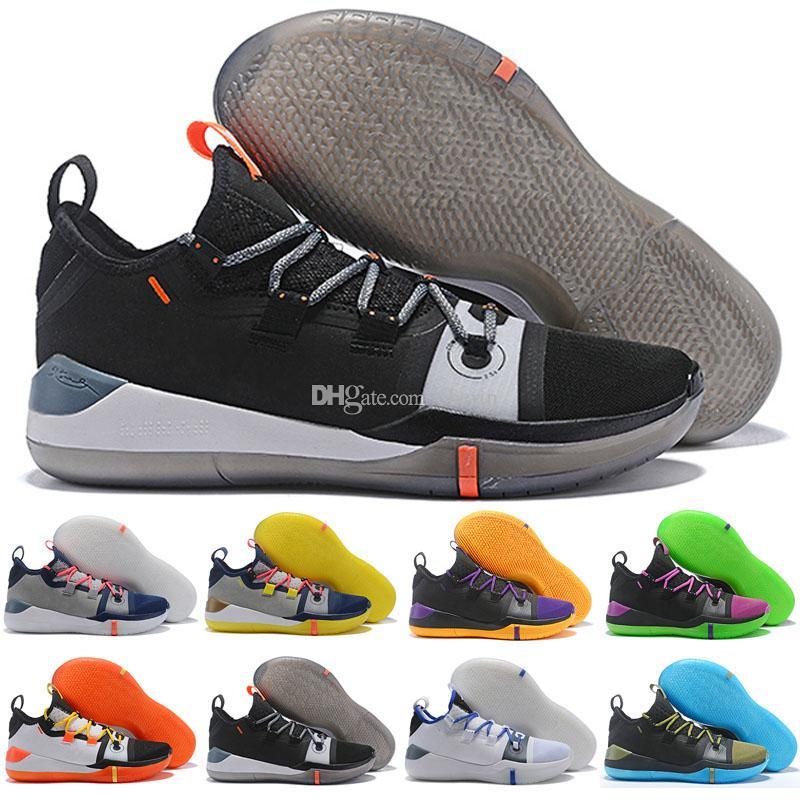the latest 014a9 04c0e Großhandel 2018 Neue Kobe AD EP Mamba Tag Segel Wolf Grau Orange Multicolor  Basketball Schuhe Für AAA + Qualität Herren Trainer Sport Sneakers Größe 7  12 ...