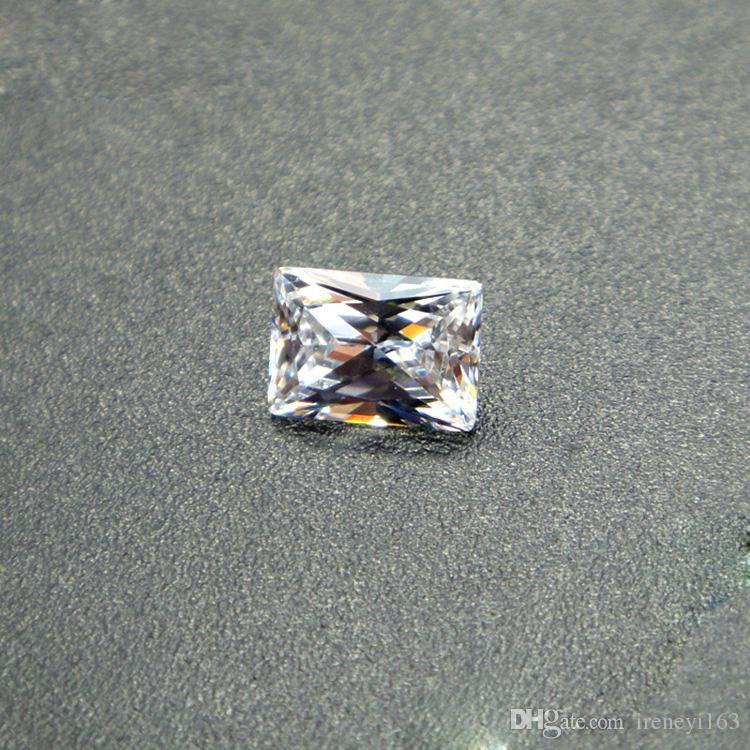 Rectángulo Corte 3A CZ 2X4-6X8mm Siete tamaños Diamante suelto Para la joyería de plata y oro Blanco sintético Ziconia cúbico al por mayor 1000 unids / lote gratuito