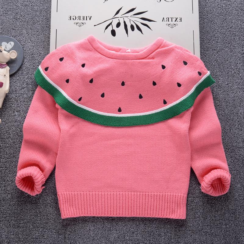 a6dc846e9 Baby Girls Sweater 2018 Fall Fashion Design Watermelon Sweaters For ...