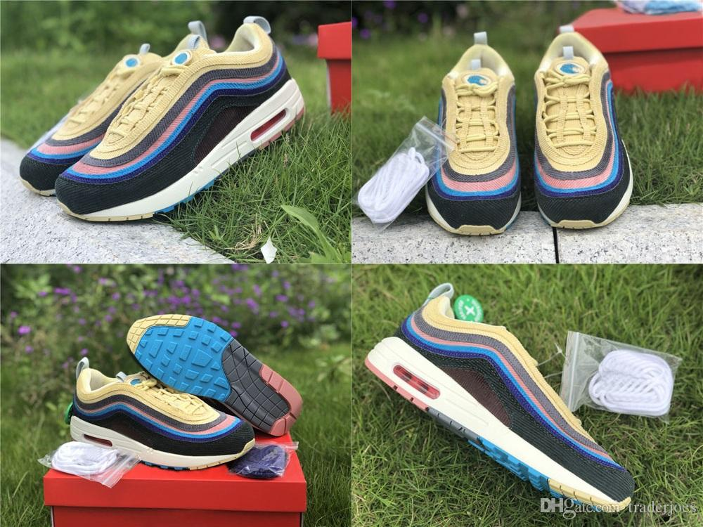 426e1fe7ed With Box 2018 Sean Wotherspoon X 97 VF SW Hybrid Mens And Womens Running  Shoes For Men Brand Designer Sports Sneakers US5.5 13 Lightweight Running  Shoes ...