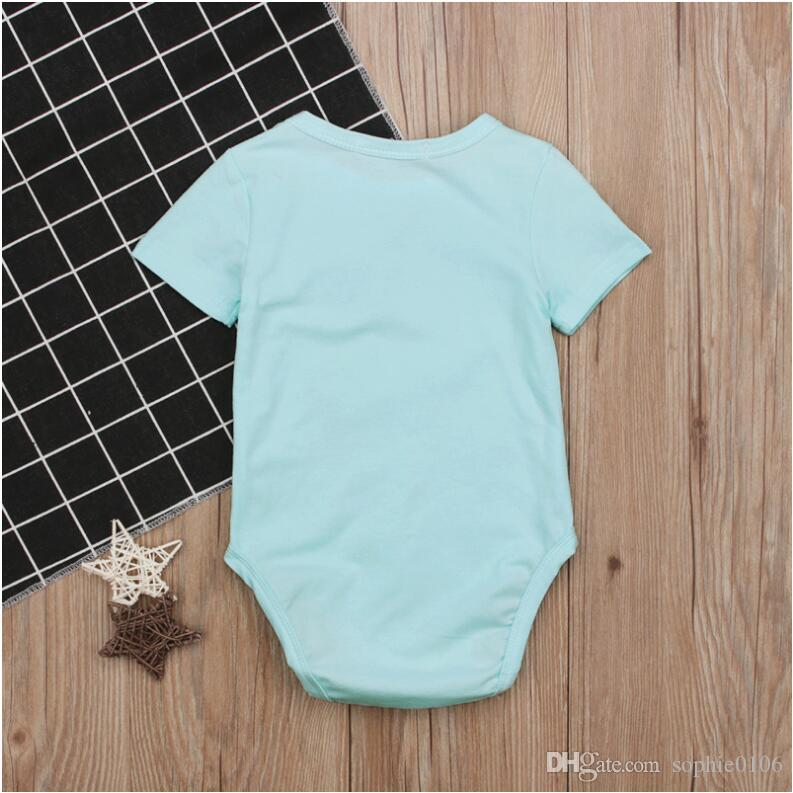 Girl Mermaid Print Cotton Rompers Baby Summer Short Sleeve Jumpsuit One Piece Kids Summer Clothes CN G025