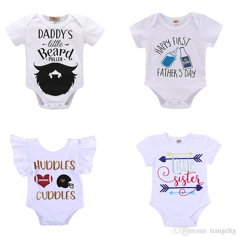 68d7a4480 2019 0 18M Baby Printing Rompers 12+ Designs Letters Cartoon Printed ...