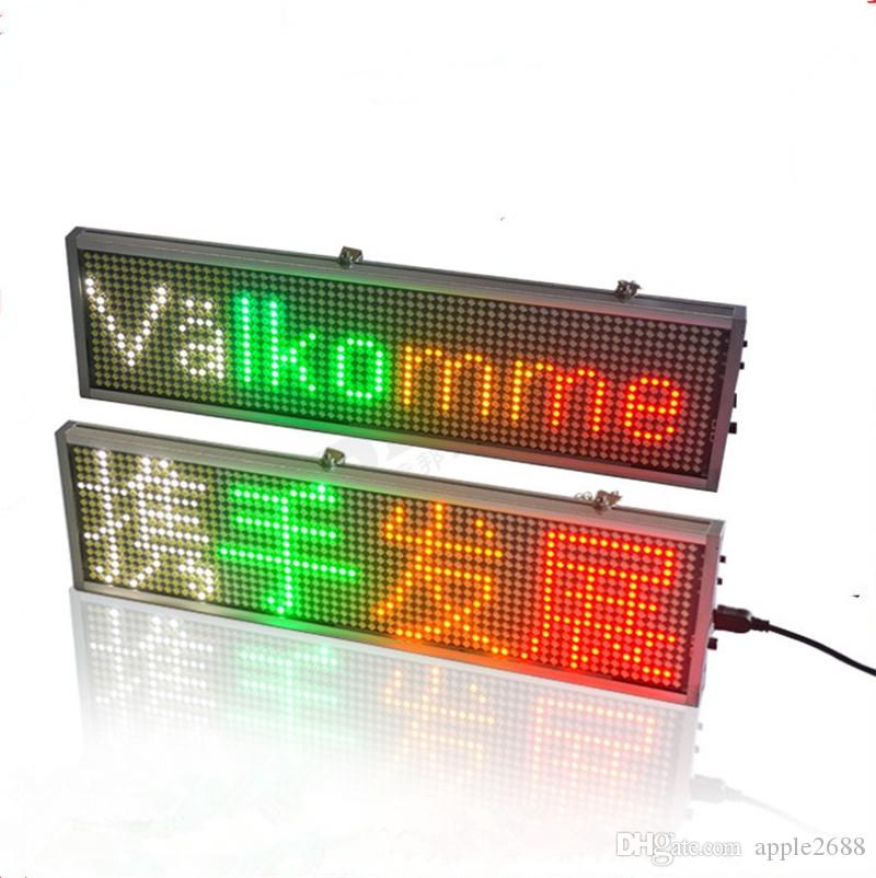 500mm*95mm*15mm WIFI Programmable advertising LED Sign Board Pure Red, green, yellow blue Scrolling message Display Color can choose custom