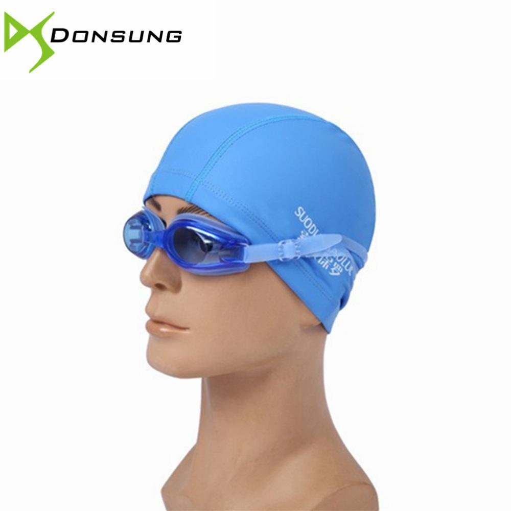 9b1b2bda965e Acquista All'ingrosso Cuffia Da Nuoto Professionale Impermeabile Adulti  Unisex PU Cuffie Gli Uomini Protezione Piscina Adulti Cappello Sportivo  Adulti ...