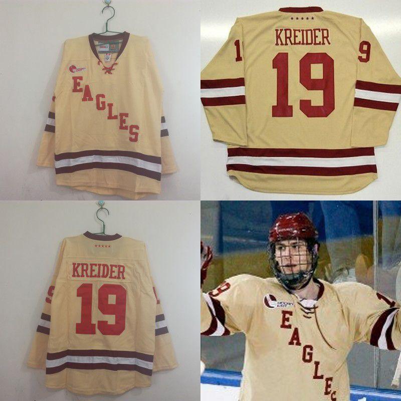 buy online 71219 4153f #19 Chris Kreider Boston College 2010-2011 Ice Hockey Jersey New York  Rangers 100% Stitched Hockey Jerseys Cheap Free Shipping